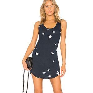 Pam & Gela | NWT Star Print Blue Tank Dress SZ L